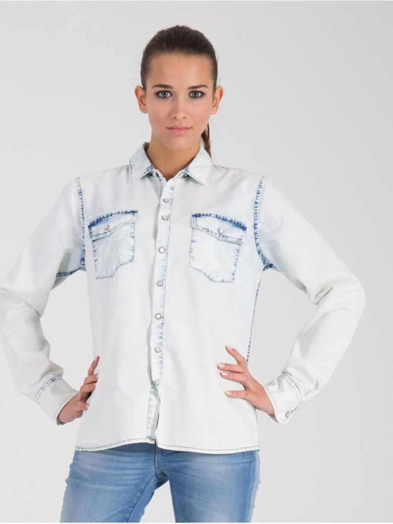 modna koszula jeansowa